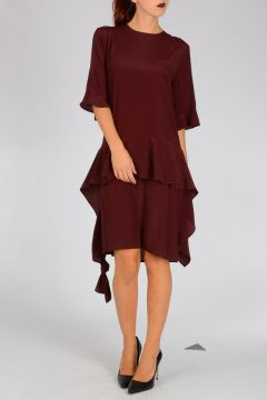 Silk Blend crepe Dress