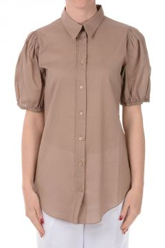 Cotton Short Sleeved Blouse