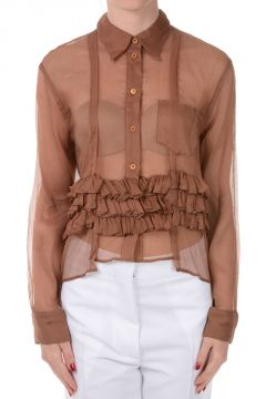 Silk Asymmetrical Shirt