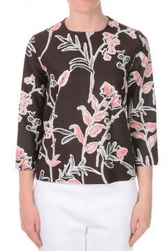 Floral Printed Cotton Silk Top