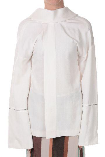 Silk Blend Long Sleeve Top
