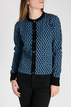 Jacquard Patterned Cardigan