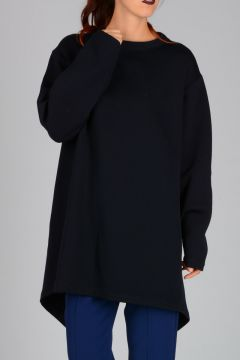 Asymmetric Cut Wool Sweater