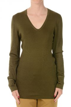 Silk V Neck Jumper
