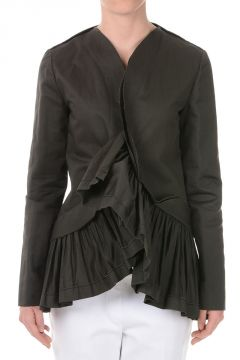 Cotton Frilled Blazer