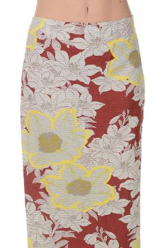 Viscose and Linen Printed Skirt