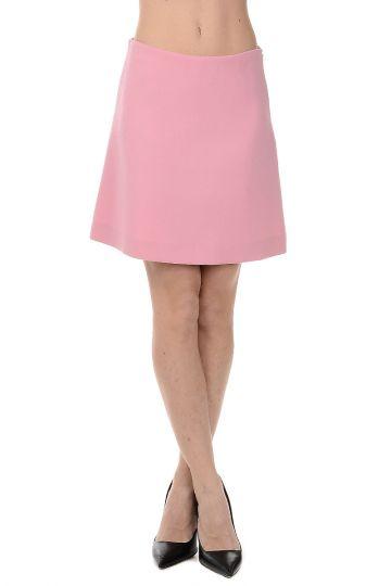 Minigonna in Lana Vergine e Cotone