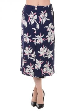 Silk Floral Printed Skirt