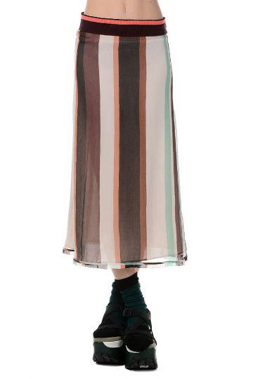 Cotton and Silk Long Skirt
