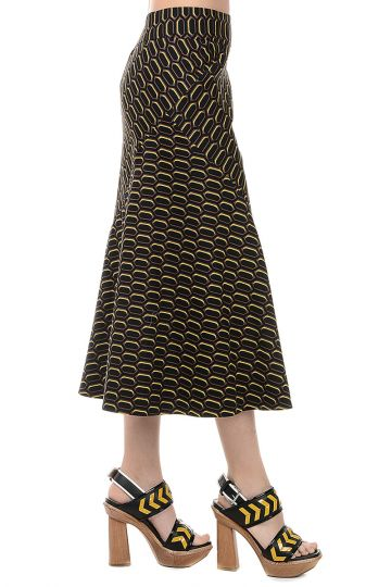 A-Line Printed Cotton Skirt