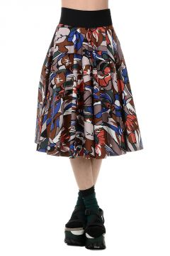 Cotton Blend Printed Skirt