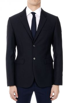 Single Breasted Wool Blend Blazer