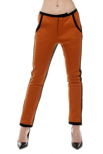 Pantaloni Jeggings Bicolore