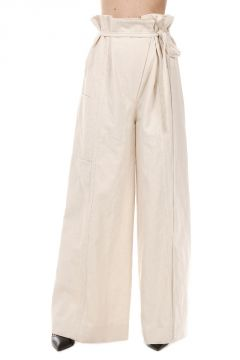 Over Hemp Blend Trousers