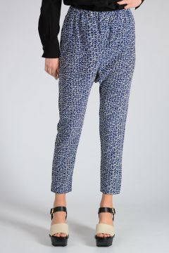 Pantaloni Crop in Seta