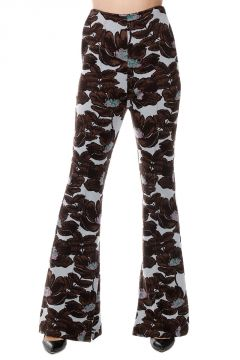Virgin Wool FLORAL Pants