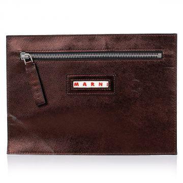 Metallic Leather  Pochette