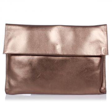 Leather Metallic Purse Bag