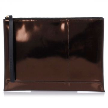 Leather Metallic Pochette
