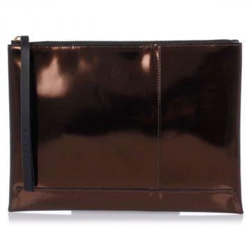 Leather Metallic Pochette