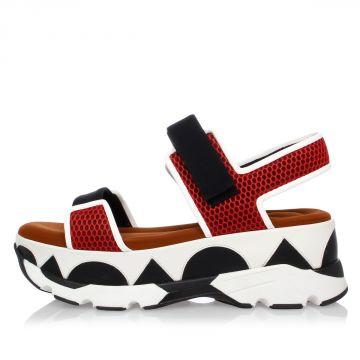 Fabric Platform Sandal