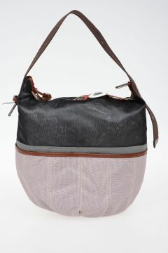 Mesh Leather Shopper Bag