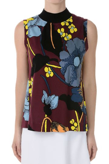 Cotton Blend Printed Top