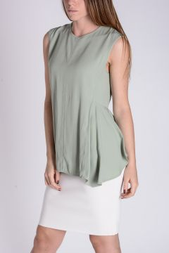 Flared Sleeveless Top