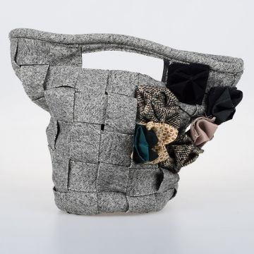 Woven Fabric BASKET BAG Handbag