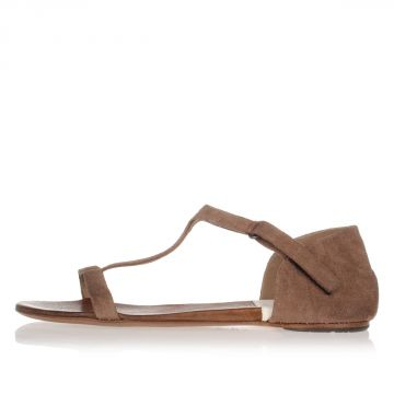 Suede Flat Sandals