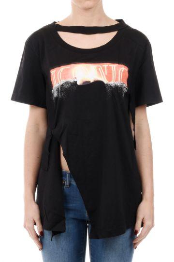 MM1 T-shirt in Cotone Taglio Vivo
