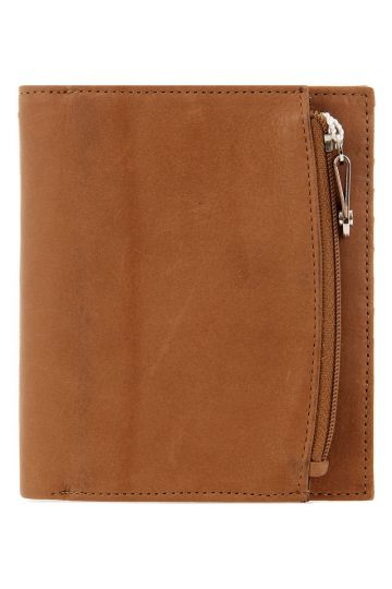 Zip enclosure leather wallet