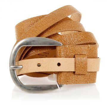 Cintura in pelle effetto vintage