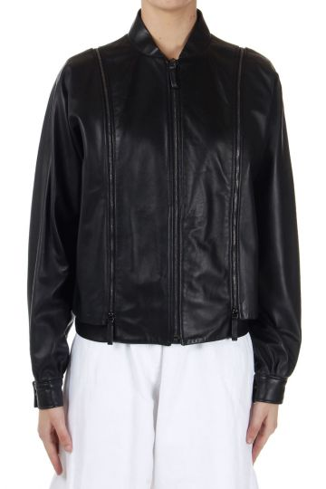 MM1 Leather Jacket with Removable Sleeves