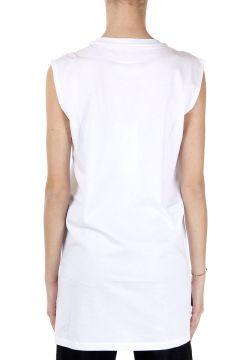 MM6 T-Shirt Smanicata con Stampa