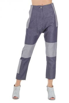MM6 Pantalone Tessuto Indigo