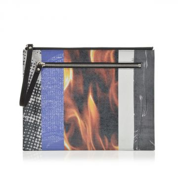 MM11 Leather Printed Hand Pouch
