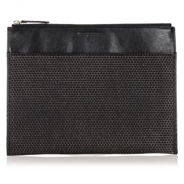 MM11 Leather Clutch with Rubber Dots