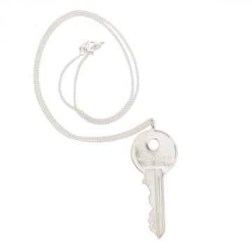 MM11 Silver Necklace with Key