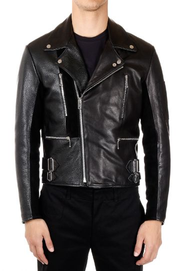 MM10 Padded Leather Biker Jacket
