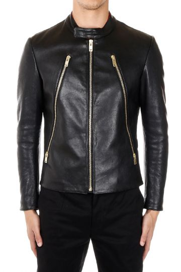 MM14 Padded Leather Jacket