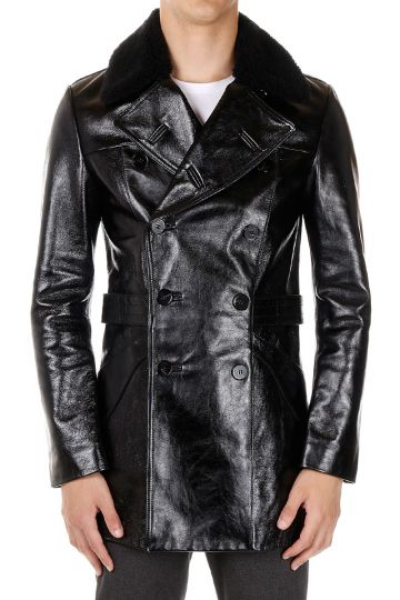 MM14 Leather Coat