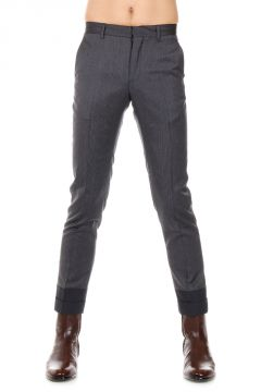 MM10 Pantaloni Slim Fit in Lana Vergine