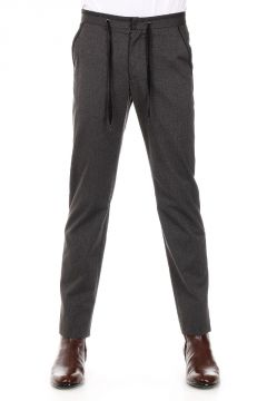 MM14 Pantaloni Slim Fit in Cotone e Lana Vergine