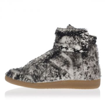 MM22 Leather High-top FUTURE Real fur Sneakers