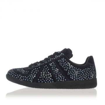 MM22 Sneakers  in Pelle Scamosciata con Strass