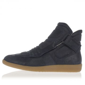 MM22 Leather Sneakers with Velcro
