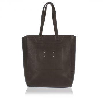 MM11 Hammered Leather Shopping Bag