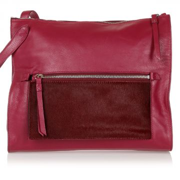 MM11 Leather Bag with Fur Details