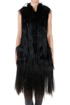 Real Fur Sleeveless Coat